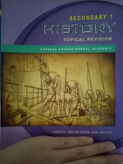 Secondary 1 history assesent book