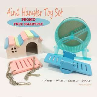 FREE Smartpac - 4in1 Hamster / Small Guinea Pig Toy Set