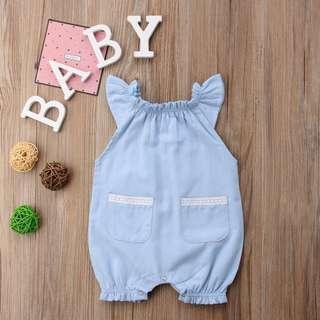 Cute Baby Blue Jumpsuit