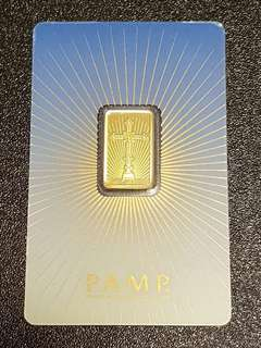 5 gram gold bar pamp suisse religious series romanesque cross