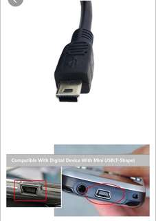 Mini USB 5pin Male Right Angled 90Degree to USB 2.0 Male Data Charge Cable 3.5m
