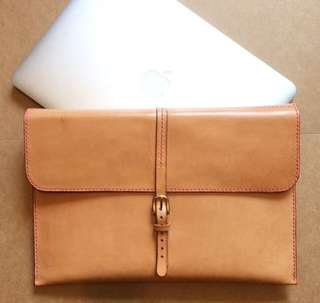 Mac book handmade leather bag
