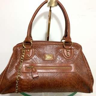 Korean brand brown handbag