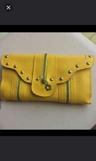 (NEW) Multifunctional Yellow Leather Clutchet