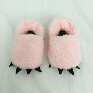 Cute Fuzzy Pink Baby Bear Monster Shoes