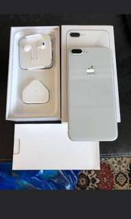 KREDIT IPHONE 8 PLUS 256GB SILVER GARANSI INTERNASIONAL NEW