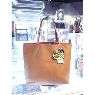 Hermes 4 Tone Brown / Pink Swift Leather Double Sens 45cm Shoulder Shopping Tote Handbag Hand Bag 愛馬仕 啡色 / 粉紅色 拼色 四色 牛皮 皮革 雙面 45公分 手挽袋 手袋 肩袋 袋 購物袋