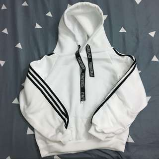 White swag oversized hoodie