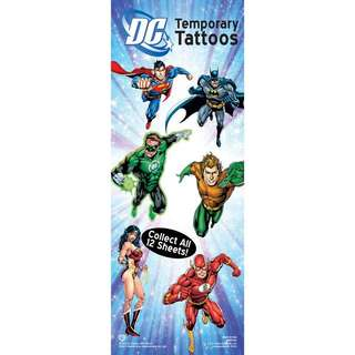 Justice League of America Temporary Tattoos