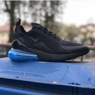Nike air max 270 black blu premium original 100%