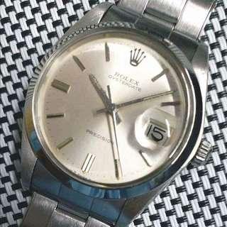 Rolex Oysterdate 6694古董錶,幾拾年老錶,少見唔駛番新都咁醒神,市面甩皮甩骨都要萬三四,絕對超值,全原裝面無番寫,無磨殼,原裝釘帶,1225上弦機芯,已抹油,行走精神,塑膠上蓋,錶頭直徑34mm不連霸的,淨錶$14800, 上行加$500, 有意請pm
