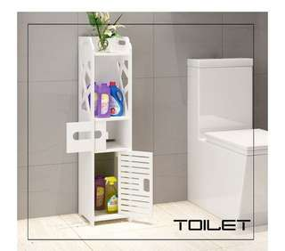 Rak penyimpanan kamar mandi side kabinet lemari mini