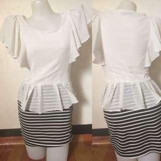 White stripes dress