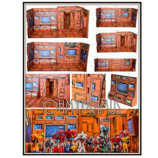 🚚 Toy Story TS-01 TS01 Transformers Autobot Teletraan 1 Base Background Backdrop Display