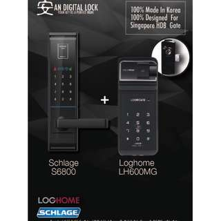 Schlage 6800 + Loghome LH600MG BUNDLE