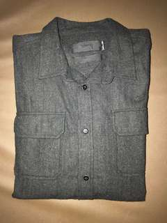Stussy Original Grey Polyester/wool Shirt Size L