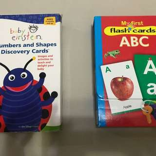 Flash Cards (numbers+shapes), ABC With Alphabets And Words