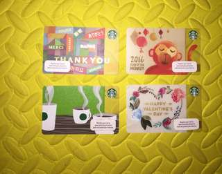 Starbucks Card Limited Edition collectibles (take all repriced)
