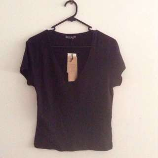 Cotton On V neck Rib shirt