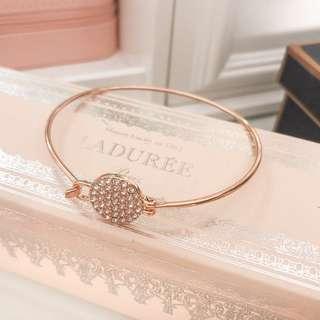 Beautiful rosegold bracelet bangle with rhinestones • fashion accessories jewelry