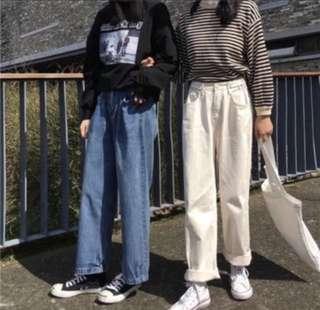 🚚 代售~米白色直筒寬褲