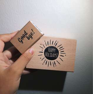 2 Rubber Stamps