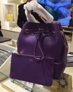 Furla Stacy Bucket Bag Purple