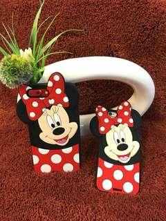 Minnie mouse silicon case😍