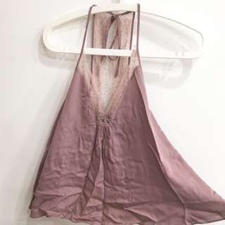 Zara TRF dark pink top sleeveless