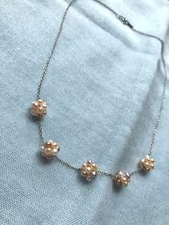 🚚 日本的925銀項鍊很淡水珍珠