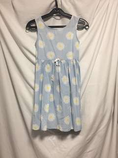 H&M Floral blue dress