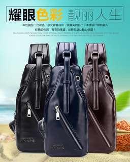 Tas selempang kulit pu sling bag cool tas pria