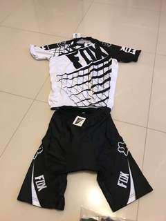 fox cycling short sleeve jersey (M)
