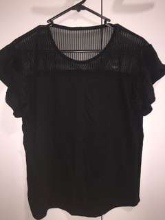 cute black mesh top