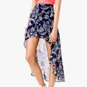 F21 Forever 21 Paisley High-Low Skirt