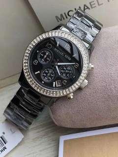 正品michael kors手錶女士陶瓷手錶鑲鑽石英表防水,優雅氣質手錶MK5188🈶️4⃣️色MK5190/5237//Mk5188/Mk5269(一表一碼🉑️查詢)錶盤直徑38mm