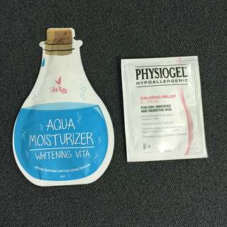 Iwhite Aqua Moisturizer & Physiogel Calming Relief cream