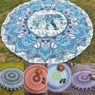 ▶️ Elephant / Geomatric Tapestry Wall Hanging / Beach Mat / Picnic / Yoga Mat / Blanket (Multi-colours)