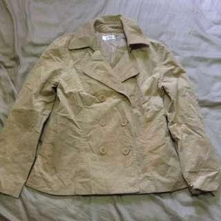 Brown Trench Coat/ Denim Jacket