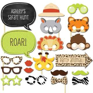 Kids Animal Theme Party Photobooth Props