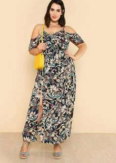 Floral Plus Size Maxi Dress