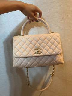 Chanel Coco Handle small size 米色 beige color 牛皮