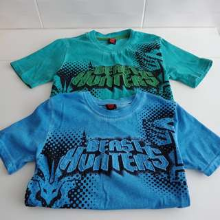 Transformer boys tshirt-sz 6 yrs (rm 15 both)