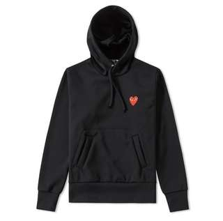 COMME DES GARCONS PLAY WOMEN'S PULLOVER HOODY SIZE S *Authentic