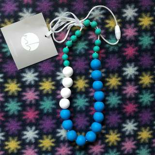 Teething Necklace Blue