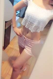 Bershka sexy and cute White lace top size xs