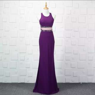 New Purple sexy slim host ceremonies Evening Dress