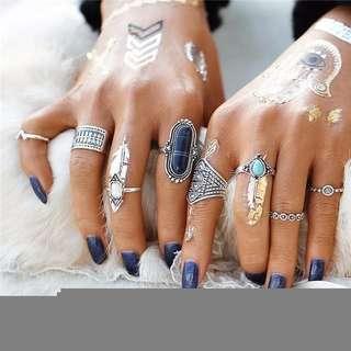 Turkish Boho Ring Set