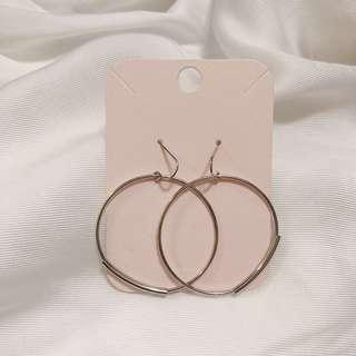 🚚 韓國🇰🇷 簡約風格 4cm大圈耳環 全新耳環 #五十元好物