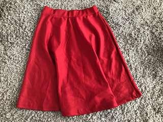 Brand New Aline Skater Skirt (Wine Red)